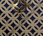 Polished Brass Grille Inner Circular Perforated Sheet 1000mm x 660mm x 0.7mm